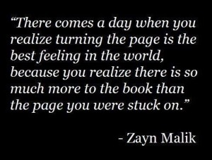 quote about turning the page
