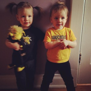 The latest Brunks to don Shocker wear. My two adorable nieces say good night to the WuShock!