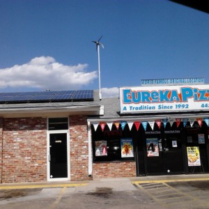 Eureka Pizza recently became the first pizza place in Arkansas to use solar panels.