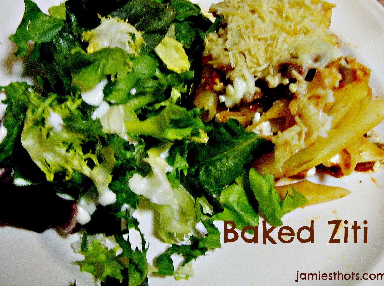 Baked ziti recipe (the really easy version!)