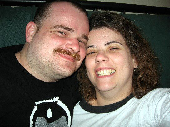 "One of our first ""selfies"" from our dating time."