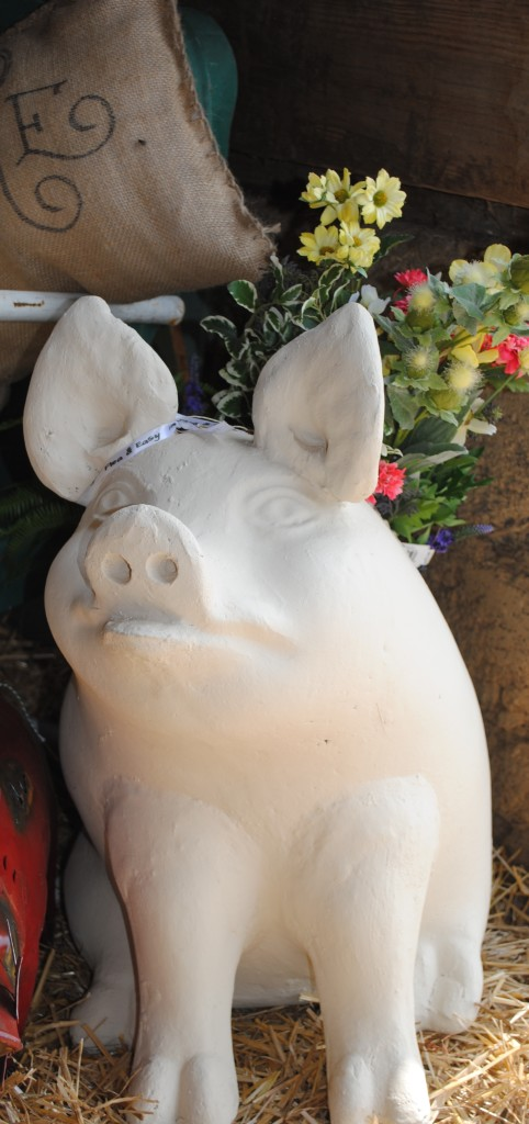 Same thing with this pig statue. It just piqued my interest so I snapped a picture.