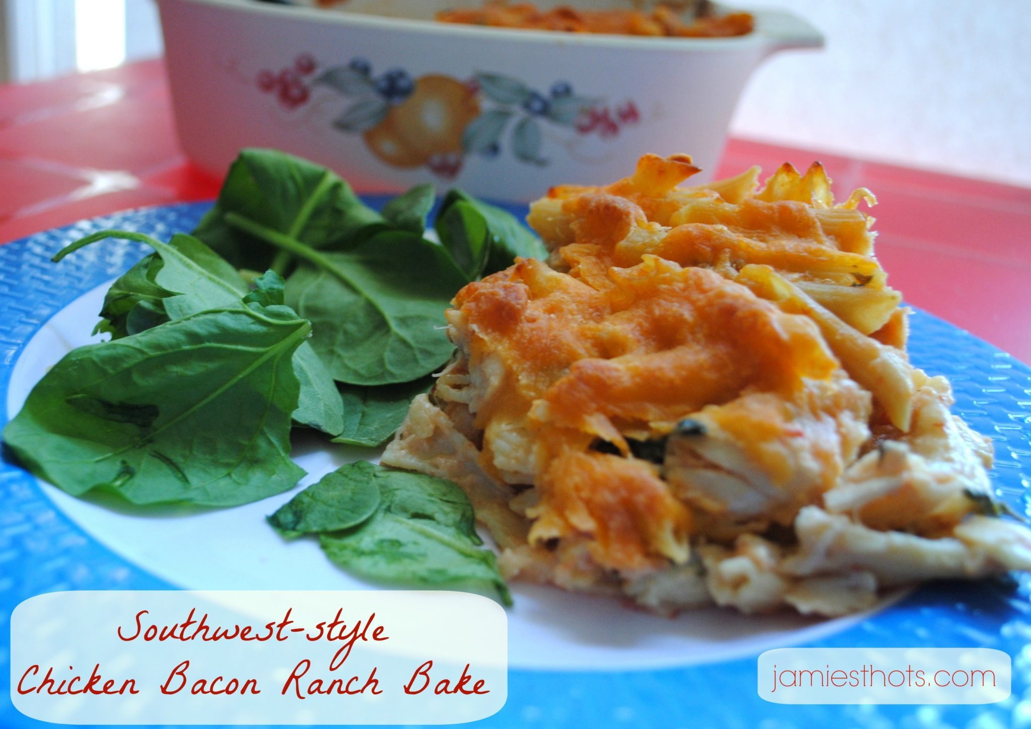 Southwest Chicken Bacon Ranch Casserole Bake recipe