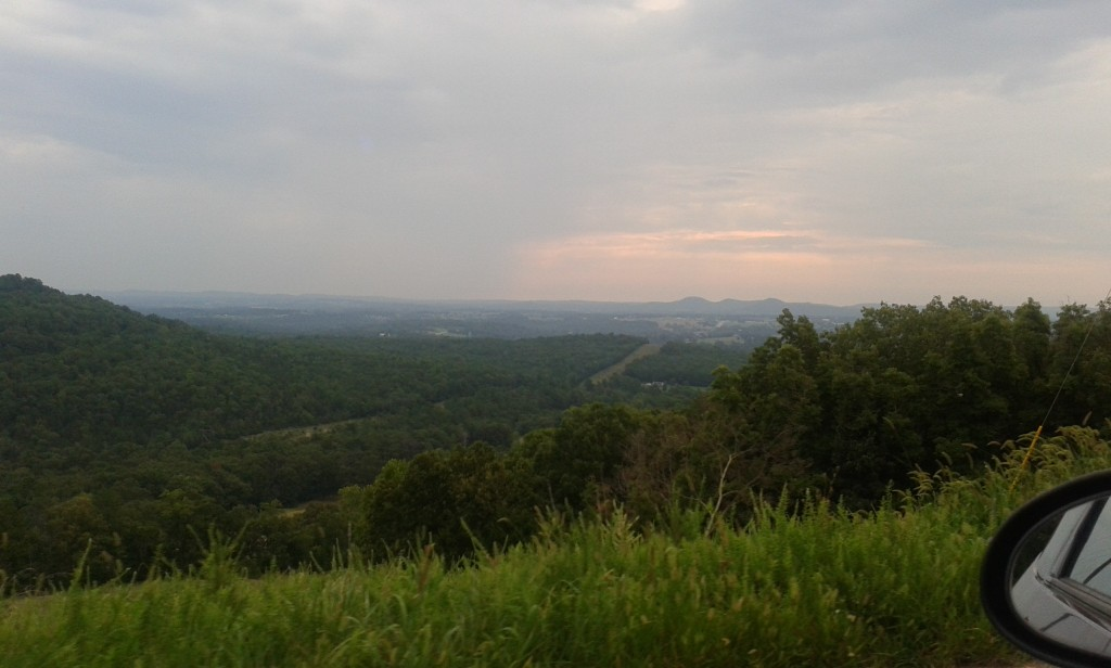 This is the view from CR 309 outside Eureka Springs on my way to Christview.