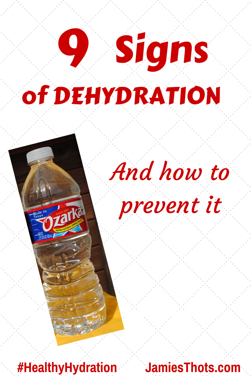 #ad 9 signs of dehydration and how to prevent it with #healthyhydration and Ozarka water
