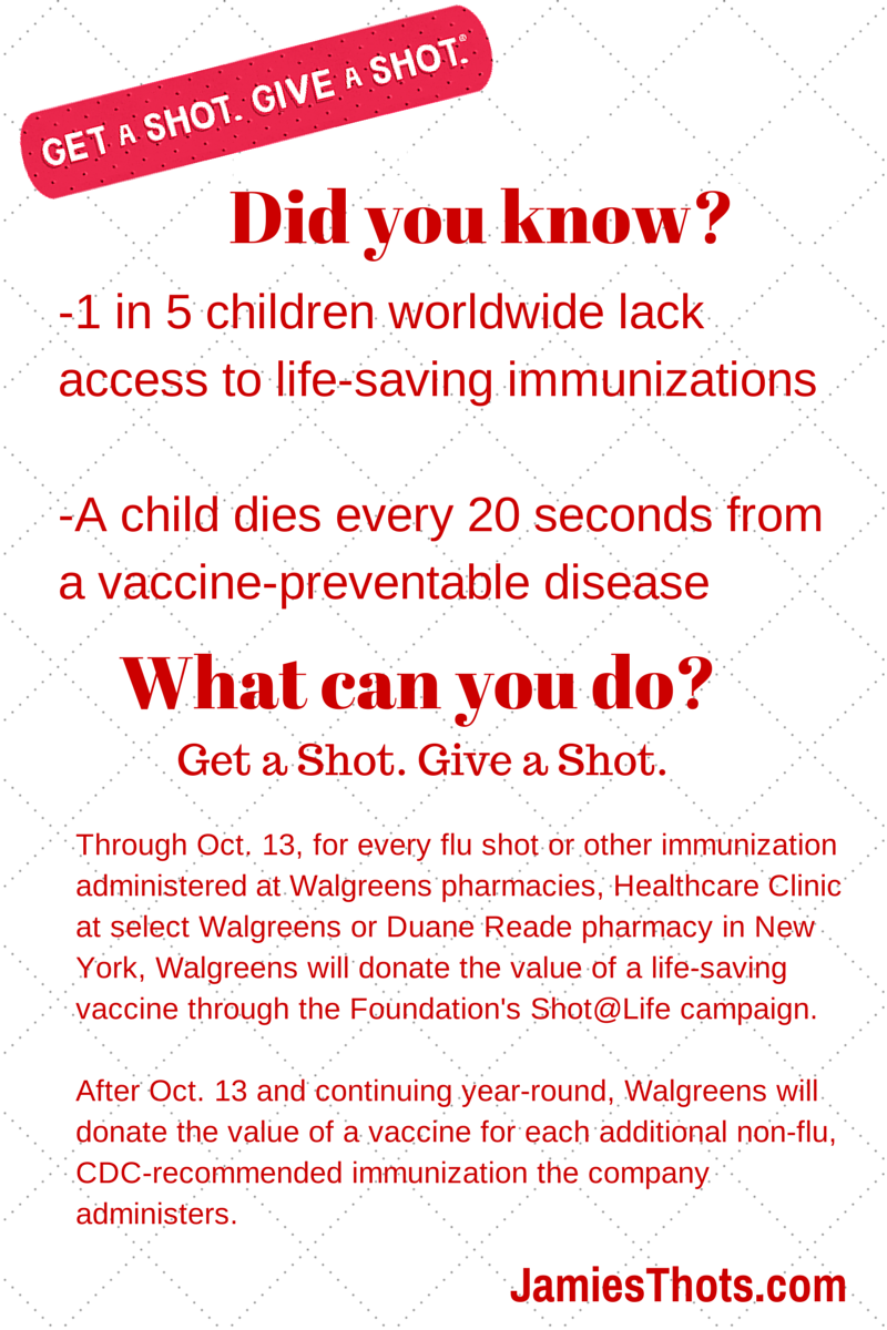 How getting my seasonal flu shot helped a child through 'Get a Shot. Give a Shot' at Walgreens