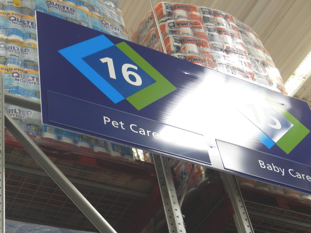 I couldn't help but close with this in-store shot. Considering I call them my fur kids (or woof babies for the dogs), how ironic is it that in my Sam's Club, the Pet Care is next to the Baby Care?