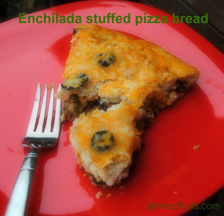 Enchilada stuffed pizza bread recipe