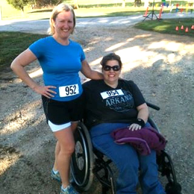 Me and my friend Christina at my first 5K.