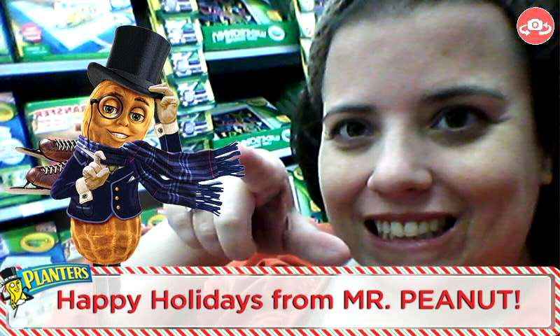 How fun is this? Use the Blippar app to get recipe ideas and to take a selfie with Mr. Peanut.
