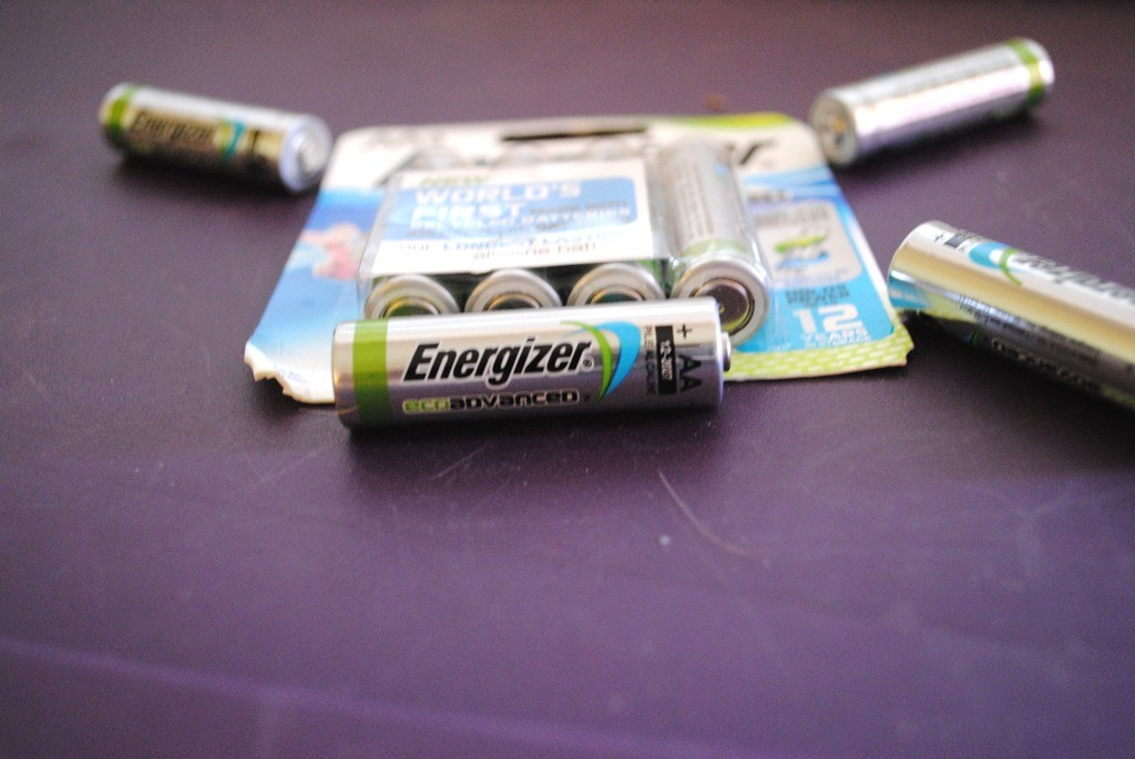 Don't you hate it when you try to use your flashlight and the batteries are dead? You need extra batteries. We're trying out these new EcoAdvanced batteries from Energizer. They are the first battery on the market to use recycled batteries and materials and are being called Energizer's longest-lasting alkaline battery. We bought AA but they are also available in AAA. (One tip: Try to make sure all your flashlights use the same size battery so you are only buying one replacement kind). I love how we are able to use a new product that literally takes something used and makes it new. Oh, and these are supposed to hold up to 12 years in storage. How many batteries do that? I don't know of any.