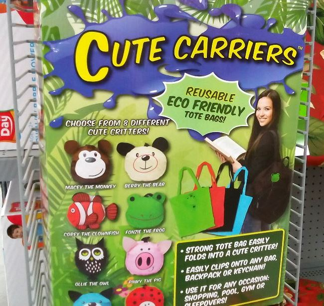 "I saw that Walmart also had these recyclable bags that kids could use to create their own entertainment kit or ""storm bag."""