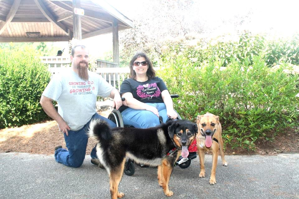 We also plan to get out to several public events that are dog friendly this spring and summer. This photo is from last year's Fayetteville Animal Services Adopters Reunion. That's the shelter where we got both Flower and Jazzy so we try to support them in any way we can!