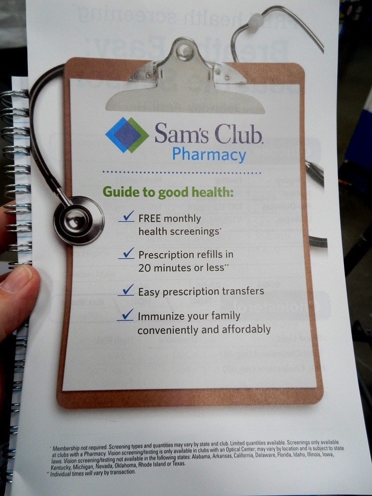 More information about what is available at Sam's Club that will help you manage your health.