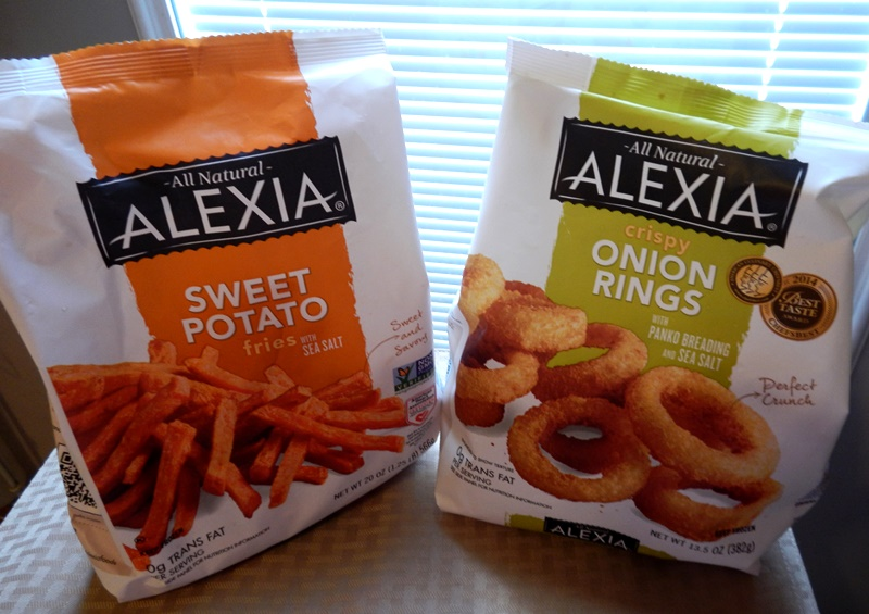 Alexia has a great assortment of healthier, natural potato products. For this recipe, I used the Alexia onion rings. You can also use the new Alexia Rosemary Fries but if you do that, you will need to add some chopped red onion.