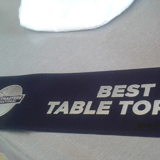 I won Best Table Topics the first time I participated. Table Topics are impromptu speeches where we respond to a prompt from the person leading that segment of the meeting.
