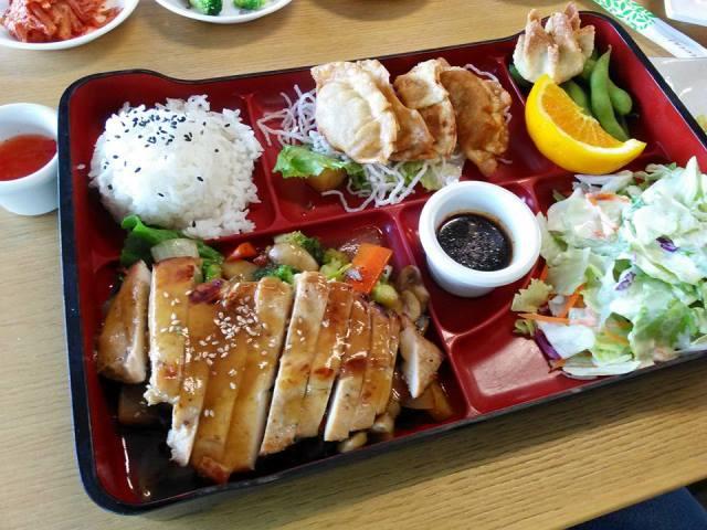 Teriyaki chicken bento box.