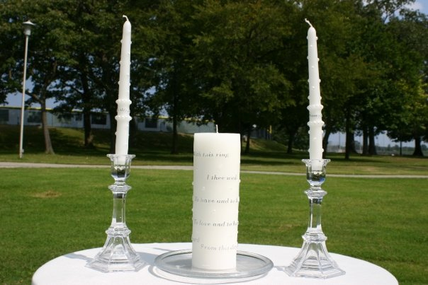 The unity candles from our own wedding!