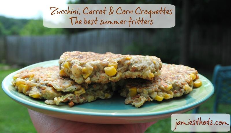 Zucchini corn carrot fritters