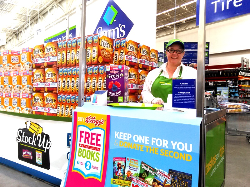 Look for the Stock Up for Back to School Display, which should be at the front of your Sam's Club store. When I shopped, the demo for this campaign was right next to the Back to School display.
