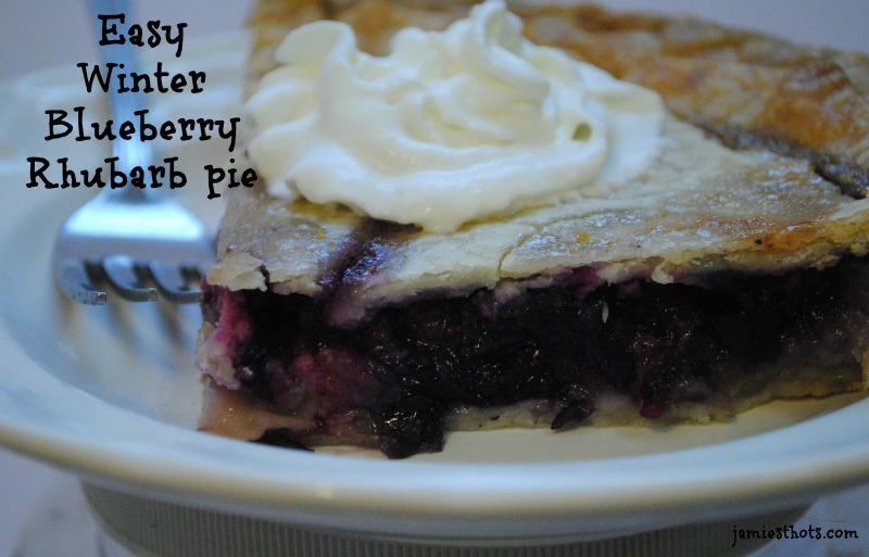 Blueberry Rhubarb Pie Hero