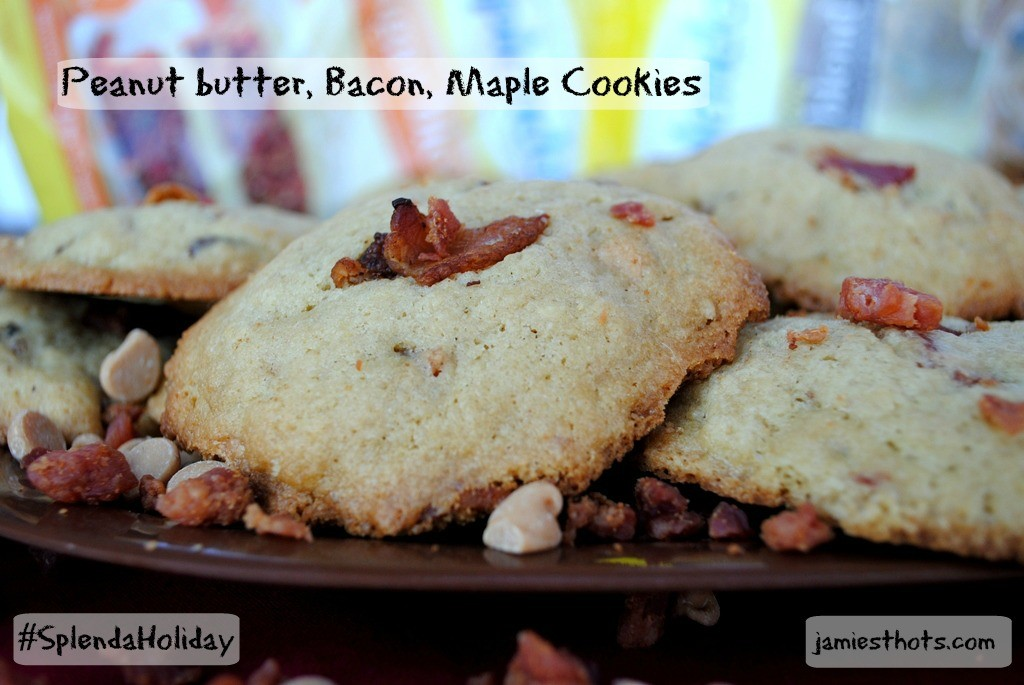 Enjoy Maple Peanut Butter and Bacon cookies with less added sugar with SPLENDA®