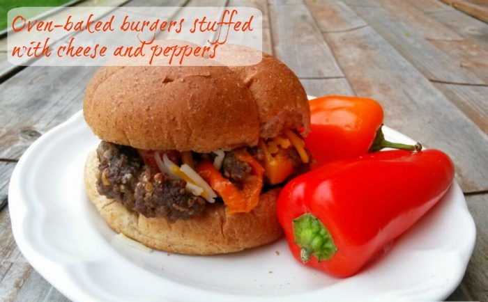 Oven_Baked_Pepper_Cheese_Stuffed_Hamburgers