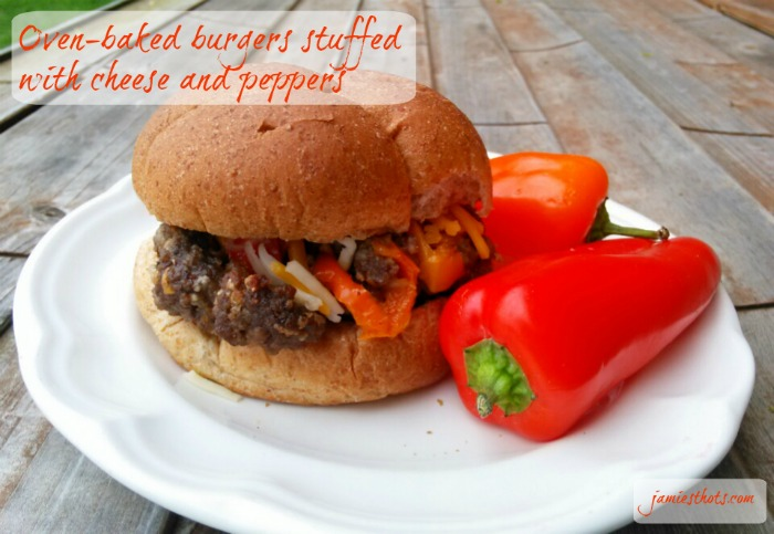 Oven_Baked_Pepper_Cheese_Stuffed_Hamburgers
