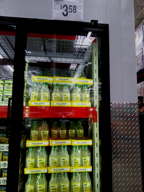 Look for the Simply Lemonade in the cooler section, not with the other Coca-Cola soda products. At least that's how it is in my club!