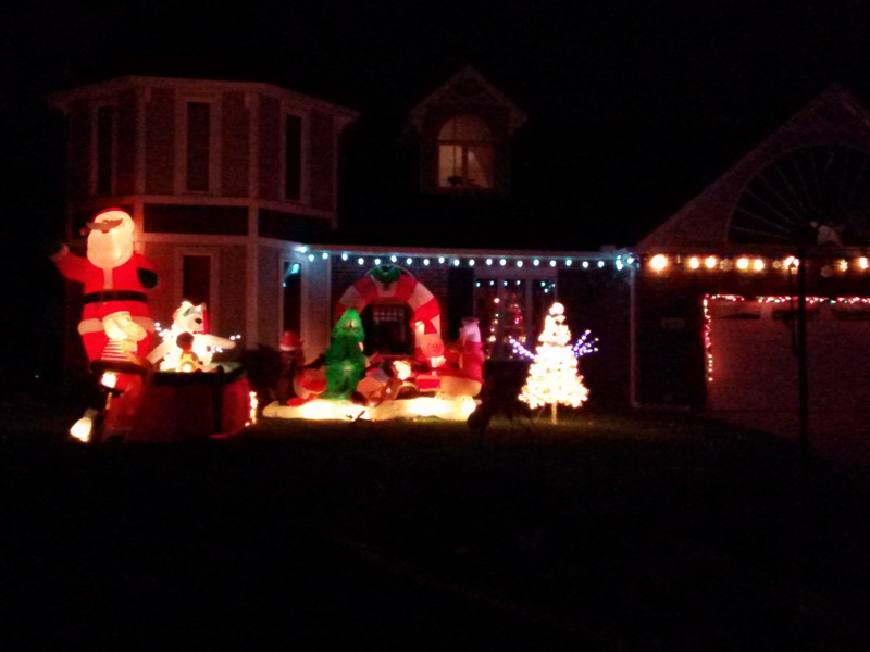 My parents' neighbors always have a great light display for Christmas!