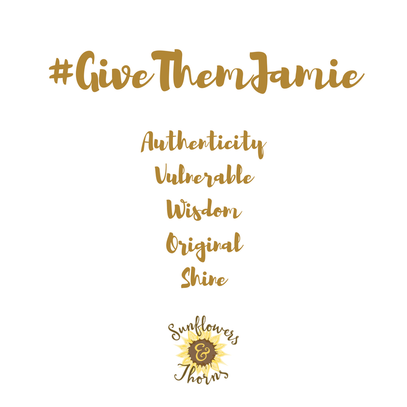 When One Word isn't enough: #GiveThemJamie