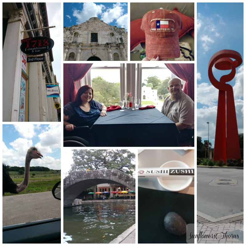 Celebrating 10 years in San Antonio (our anniversary trip)
