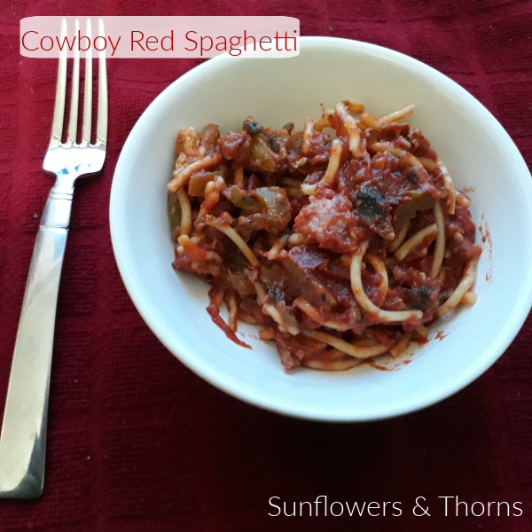 Cowboy Red Spaghetti recipe