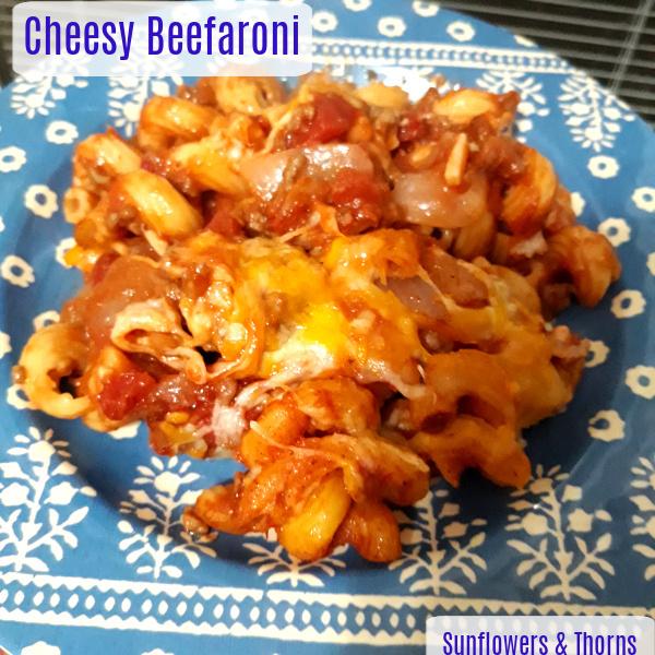 Cheesy beefaroni recipe