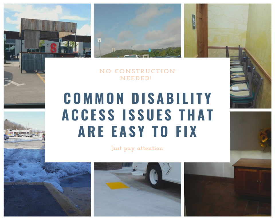 Easily overlooked, easily fixed disability barriers